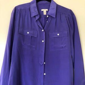 100% silk J crew blouse